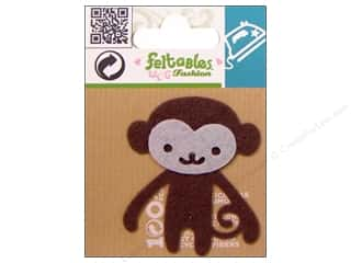 Feltables Iron On Designs: Feltables Fashion Iron On Monkey Brown