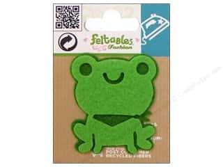 Feltables Animals: Feltables Fashion Iron On Frog Green