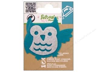 Feltables Fashion Iron On Owl Blue/Ivory