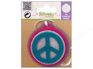 Clearance Feltables Fashion Embellishment: Feltables Fashion Embel Tag Peace Sign