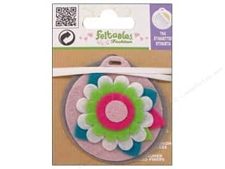 Felt Feltables Fashion Embellishment: Feltables Fashion Embellishment Tag Flower Pink Ground