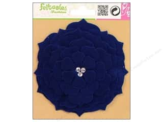 Craft Embellishments Blue: Feltables Fashion Embellishment Corsage Camelia Blue
