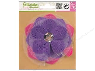 Feltables Fashion Embel Corsage Tulle Flwr Violet