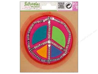Clearance Feltables Fashion Embellishment: Feltables Fashion Embel Corsage Peace Sign