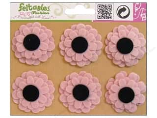 Feltables Fashion Embel Black Eyed Susan Pink 6pc