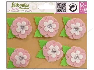 Feltables Fashion Embel Sweet Pea Pink 6pc