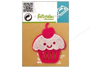 Food Basic Components: Feltables Fashion Iron On Cupcake Pink/White