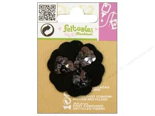 Felt Feltables Fashion Embellishment: Feltables Fashion Embellishment Cutie Sequin Flower Black