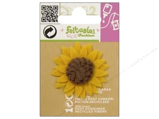 Clearance Feltables Fashion Embellishment: Feltables Fashion Embl Cutie Sunflower Yellow