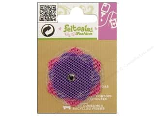 Felt Feltables Fashion Embellishment: Feltables Fashion Embellishment Cutie Tulle Flower Violet