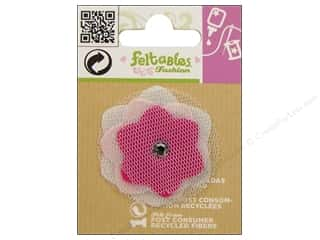 Flowers / Blossoms Felting: Feltables Fashion Embellishment Cutie Tulle Flower Pink