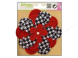 Feltables Fashion Embl Corsage Houndstooth Flower