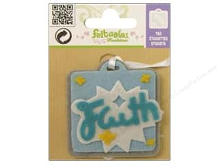 Clearance Feltables Fashion Embellishment: Feltables Fashion Embl Tag Faith