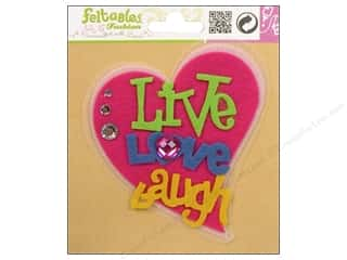 Hearts Basic Components: Feltables Fashion Embellishment Corsage Heart Live,Love,Laugh
