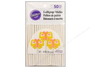 "Wilton Decorations Lollipop Sticks 4"" 50pc"