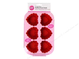 Wilton Molds Silicone Heart Mini Ruffled