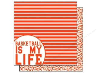 Scrappin Sports Paper 12x12 Girls Rule Basketball (25 piece)