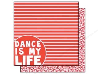 Scrappin' Sports: Scrappin Sports Paper 12x12 Girls Rule Dance Life (25 pieces)