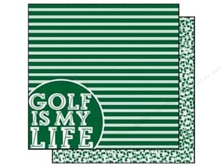 Sports Papers: Scrappin Sports Paper 12x12 Girls Rule Golf (25 pieces)