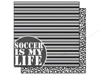 Scrappin Sports Paper 12x12 Girls Rule Soccer (25 piece)