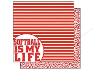 Scrappin Sports Paper 12x12 Girls Rule Softball (25 piece)