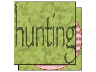 Scrappin Sports Paper 12x12 Sporty Words Hunting (25 piece)