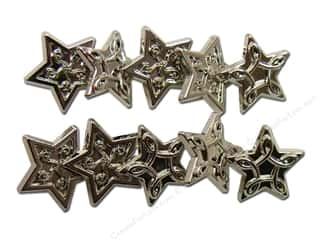 Jesse James Embellishments Star Combo Silver