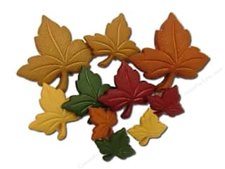 Fall / Thanksgiving Buttons: Jesse James Dress It Up Embellishments Fall Collection Autumn Leaves