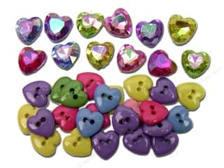 button: Jesse James Embellishments Mini Simple Hearts