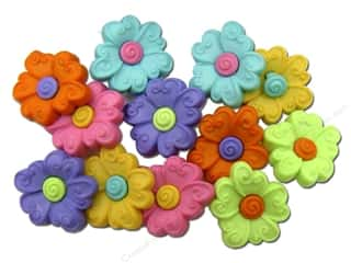 Flowers $3 - $4: Jesse James Dress It Up Embellishments Button Fun Two Part Flower