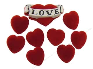 Jesse James Embellishments Red Velvet Hearts