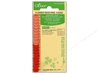 flat head pins: Clover Flower Head Pins 20 pc.