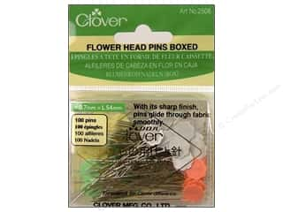 straight pins: Clover Pins Flower Head Pins Boxed 100pc