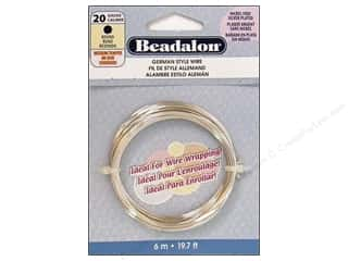 beadalon copper wire: Beadalon German Wire 20ga Round Silver Plated 19.7 ft.