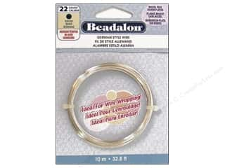 Beading & Jewelry Making Supplies: Beadalon German Wire 22ga Round Silver Plated 32.8 ft