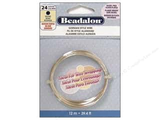 Beading & Jewelry Making Supplies: Beadalon German Wire 24ga Round Silver Plated 39.4 ft.