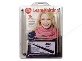 Bates knitting needle: C&C Red Heart Made Easy Kit Knitting