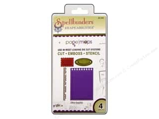 Office: Spellbinders Shapeabilities Dies Office Supplies 4pc