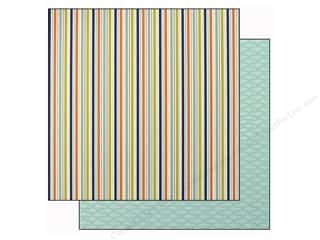 Doodlebug Sheets: Doodlebug Paper 12 x 12 in. Boys Only Skater Stripe (25 pieces)
