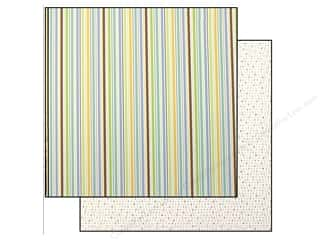 bubble abc & 123: Doodlebug Paper 12 x 12 in. Snips & Snails Nursery Stripe (25 pieces)