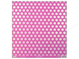 Doodlebug 12 in: Doodlebug Paper 12 x 12 in. Candy Dots Bubblegum (25 pieces)