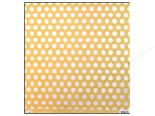Clearance Doodlebug Glitter: Doodlebug Paper 12 x 12 in. Candy Dots Bumblebee (25 sheets)