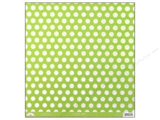 Doodlebug 12 in: Doodlebug Paper 12 x 12 in. Candy Dots Limeade (25 pieces)