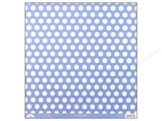 Clearance Doodlebug Glitter: Doodlebug Paper 12 x 12 in. Candy Dots Bubble Blue (25 sheets)