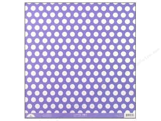 Doodlebug 12 in: Doodlebug Paper 12 x 12 in. Candy Dots Lilac (25 pieces)