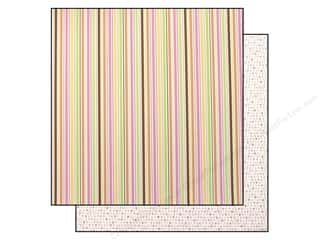 Doodlebug Paper 12x12 Sweetie pie stripe (25 piece)