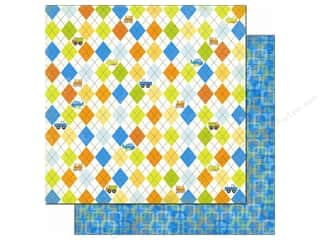 Bo Bunny Paper 12x12 On The Go Argyle (25 piece)