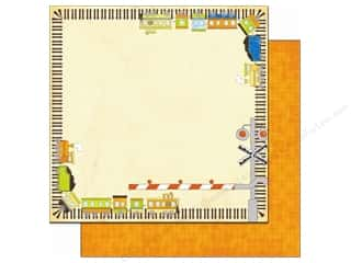 Bo Bunny Paper 12x12 On The Go Choo Choo (25 piece)