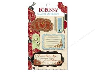 sticker: Bo Bunny Chipboard Stickers Layered Serenity