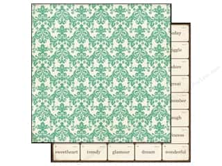 Echo Park Paper 12x12 This&That Graceful Teal Dmsk (25 piece)